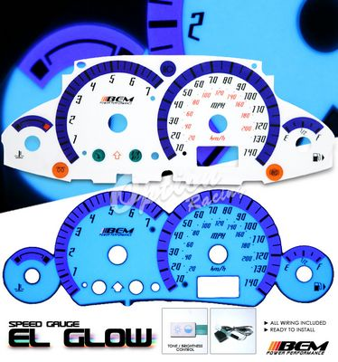 Ford Focus 2000-2005 Glow Gauge Cluster Face Kit