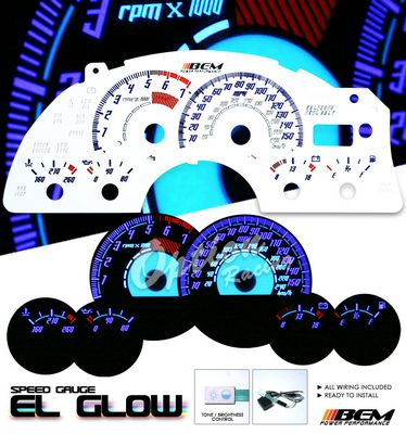 Chevy Camaro 1998-2002 Reverse Glow Gauge Cluster Face Kit