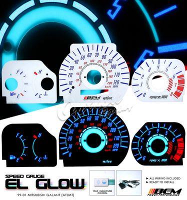Mitsubshi Galant 1999-2001 Glow Gauge Cluster Face Kit