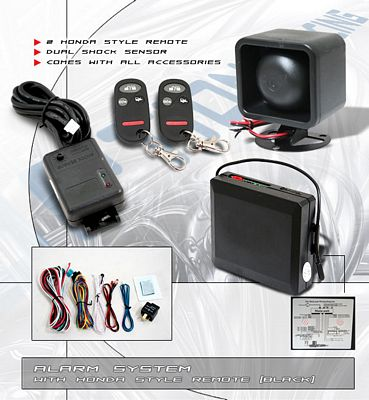 Car Alarm System with Honda Style Remotes