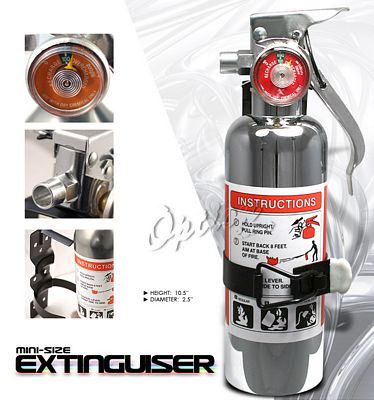 Universal Racing Safety Chrome Fire Extinguisher