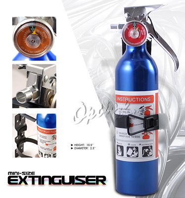 Auto Racing Blue Sport Pedals on Universal Racing Safety Blue Fire Extinguisher   A101trlu166