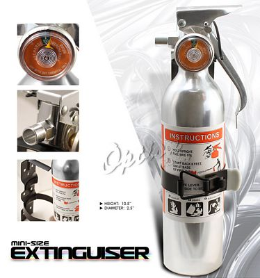 Universal Racing Safety Silver Fire Extinguisher