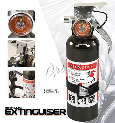 Universal Racing Safety Black Fire Extinguisher