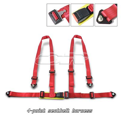 Red 4 Point Racing Seat Belt Harness