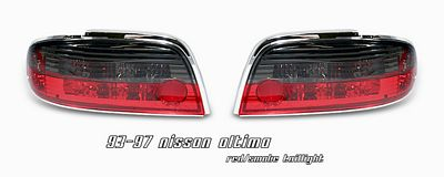 Nissan Altima 1993-1997 Red and Smoked Tail Lights