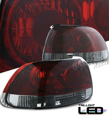 Honda Del Sol 1993-1997 Red and Smoked Tail Lights