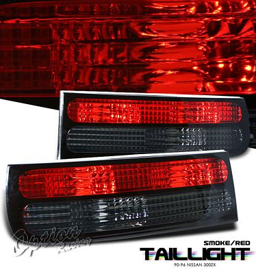 Nissan 300ZX 1990-1996 Red and Smoked Tail Lights