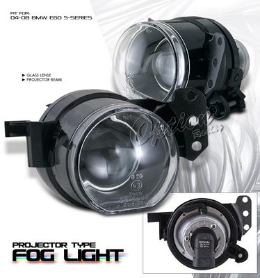 BMW E60 5 Series 2004-2008 Clear Projector Fog Lights