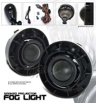 Chevy Colorado 2004-2008 Smoked Projector Fog Lights Kit