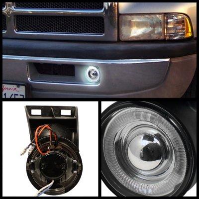 Dodge Ram 2500 1994 2001 Smoked Halo Projector Fog Lights
