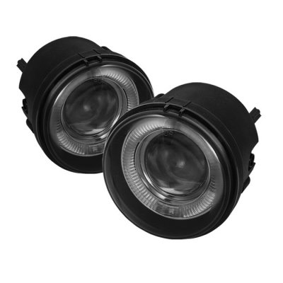 Jeep Compass 2007 2010 Smoked Halo Projector Fog Lights
