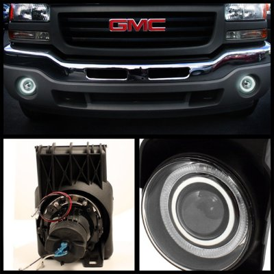 Gmc Sierra 2500hd 2003 2006 Smoked Halo Projector Fog