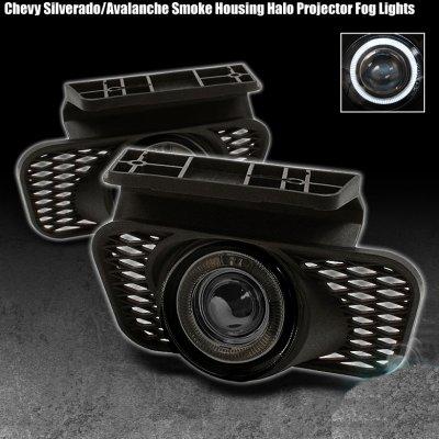 Halo Fog Lights Chevy Silverado Halo Projector Fog Lights