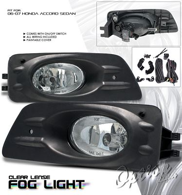 Honda Accord Sedan 2006-2007 Clear Fog Lights Kit