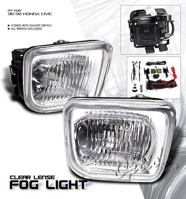 Honda Civic 1996-1998 Clear Fog Lights Kit