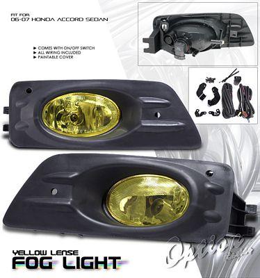 Honda Accord Sedan 2006-2007 Yellow Fog Lights Kit
