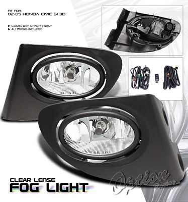 ... Honda Civic Si 2002 2005 Clear OEM Style Fog Lights Kit ...