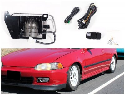 Honda Civic 1992-1995 Clear Fog Lights Kit
