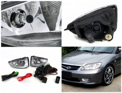 2005 Honda Civic Clear Fog Lights Kit