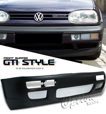 VW Golf 3 1993-1998 GTI Style Silver Vent Front Bumper