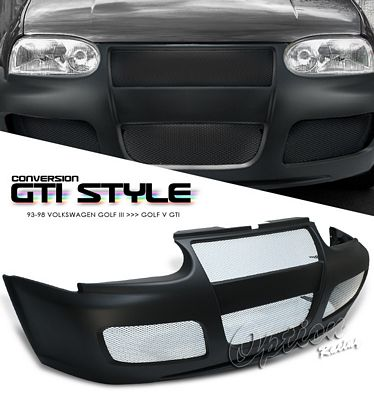 VW Golf 3 1993-1998 GTI Style Mesh Grille Front Bumper