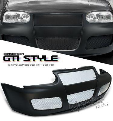 Dodge Ram Bull Bar >> VW Golf 3 1993-1998 GTI Style Mesh Grille Front Bumper ...