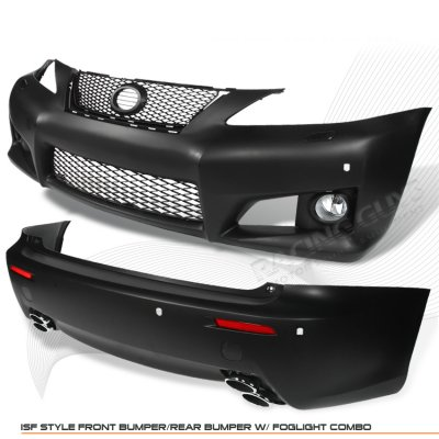 Lexus IS250 2006-2008 IS-F Style Front and Rear Bumpers Conversion