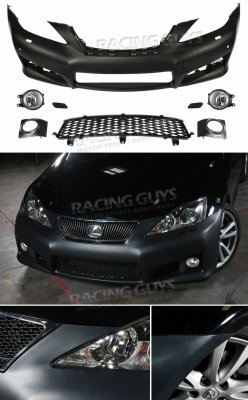 Lexus IS250 2006-2008 IS-F Style Bumper Conversion with Fog Lights