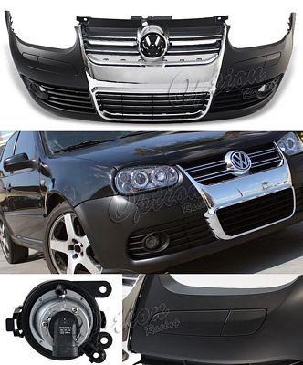 VW Golf 1999-2005 R32 Style Front Bumper Chrome Grille with Fog Lights