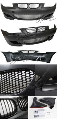 BMW E60 5 Series 2008-2009 M5 Style Front Bumper with Black Grille