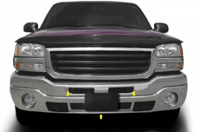 GMC Sierra 2003-2006 Chrome Lower Front Bumper Cover