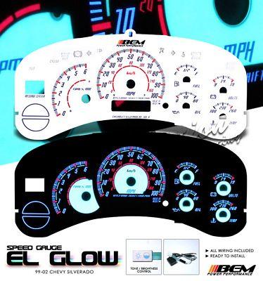 Chevy Silverado 1999-2002 Reverse Glow Gauge