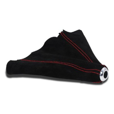 Red Stitching Suede Shift Boot