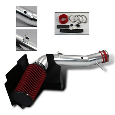 Chevy Silverado 2001-2003 Polished Truck Air Intake System with Heat Shield