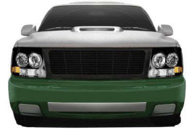 Chevy Silverado 1999-2002 Black Billet Grille and Headlight Conversion Kit