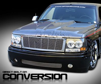 Chevy Suburban 2000-2006 Chrome Billet Grille and Black Headlight Conversion Kit