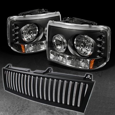 Chevy Suburban 2000 2006 Black Vertical Grille And