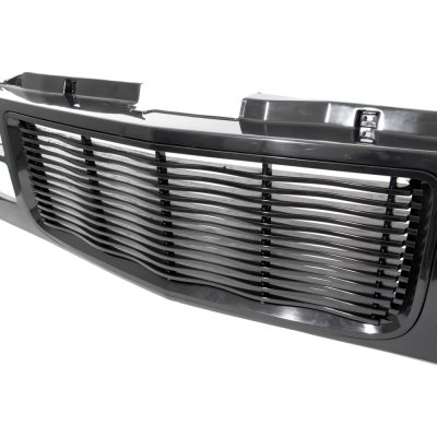 Chevy 1500 Pickup 1994-1998 Black Wave Grille and Headlights LED Bumper Lights