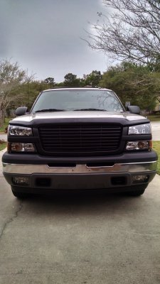 Chevy Silverado 1500 2003 2005 Black Front Grill And