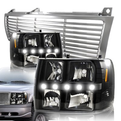Chevy Suburban 2000 2006 Chrome Grille And Black