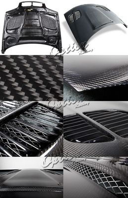 BMW E46 Sedan 3 Series 2002-2005 GTR Style Carbon Fiber Hood