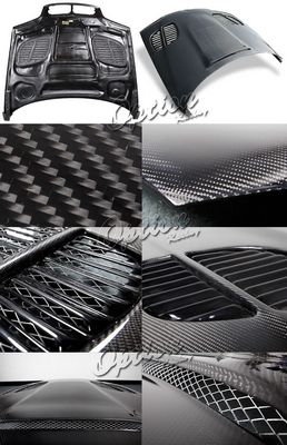 BMW E46 Coupe 3 Series 2002-2005 GTR Style Carbon Fiber Hood