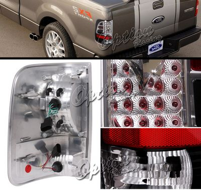Ford F150 2004-2008 Black LED Style Tail Lights