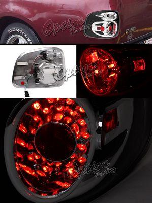Ford F150 1997-2003 Stepside Black LED Style Tail Lights