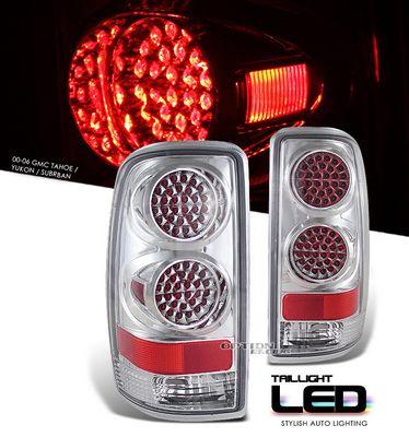 Chevy Suburban 2000-2006 Chrome LED Style Tail Lights