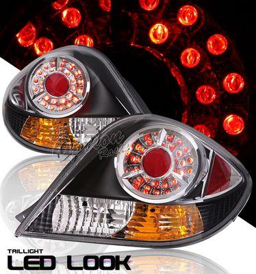 Hyundai Tiburon 2003-2006 Black LED Style Tail Lights