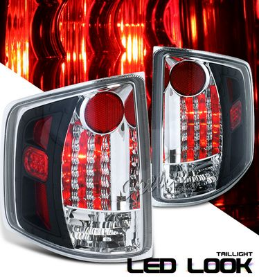 GMC Sonoma 1994-2001 Black LED Style Tail Lights