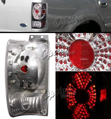 Ford Expedition 1997-2002 Black LED Style Tail Lights