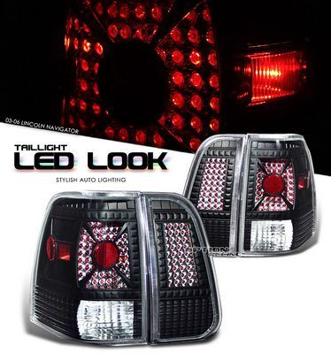 Lincoln Navigator 2003-2006 Black LED Style Tail Lights